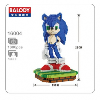 16004 Balody - Blue Igel (Ohne Box)