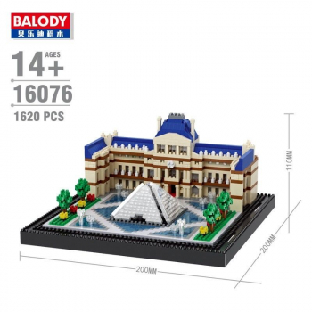 Balaody 16076 - The Louvre (Ohne Box)