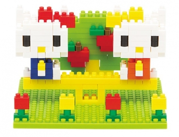 Nanoblock - Kitty & Mimmy Nakayoshi Park (Level 2)
