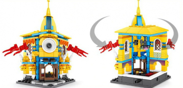 6801D SHENG YUAN - Minion House  (Ohne Box)