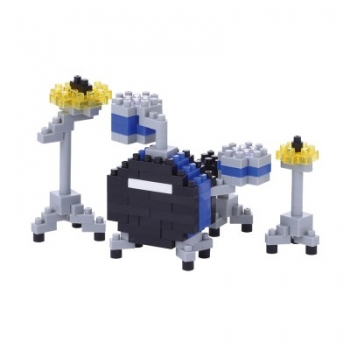Nanoblock - Drum Set Blue (LEVEL 2)