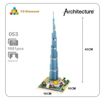 YZ053 YZ-Diamond - Burj Khalifa Tower (Ohne Box)