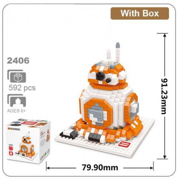 2406 Wise Hawk - Star Wars - BB 8