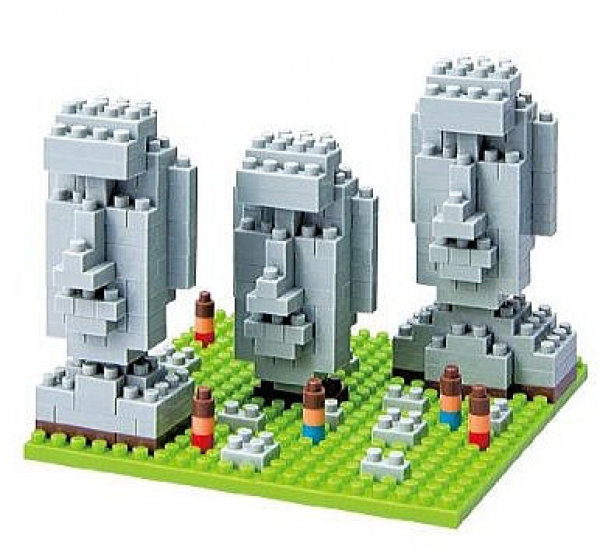 Nanoblock - Moai Status of Easter Island (Level 2)