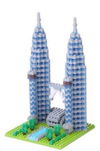 Nanoblock - Petronas Twin Towers (LEVEL 3)