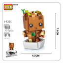 1438 Loz Mini - Brick ´H'eadz - Grooth (Ohne Box)