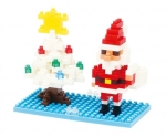 Nanoblock - Santa Claus & X-Mas Tree (Level 2)(nbc099)