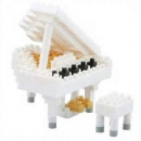 Nanoblock - Grand Piano white (Level 2)(NBC053)