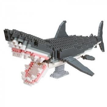 Nanoblock - Animal Deluxe NANOBLOCK Great White Shark (Level 4)