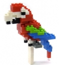 Nanoblock - Red-and-green Macaw (Level 2)